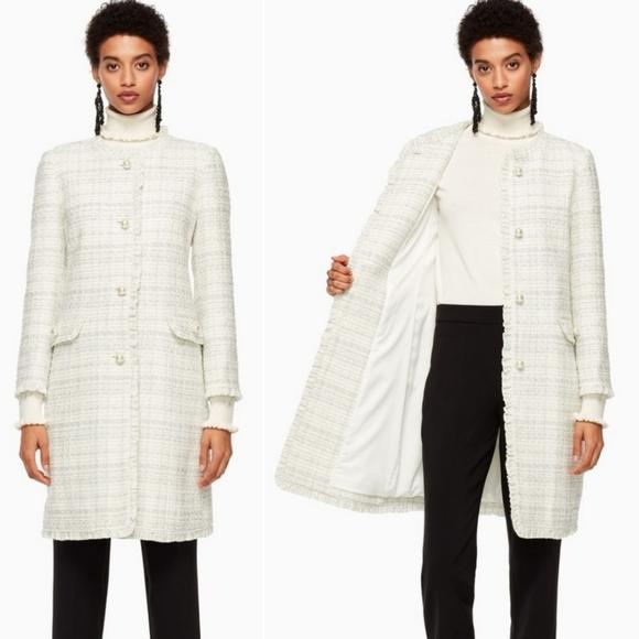Kate Spade | Sparkle Tweed Metallic Coat Size 6
